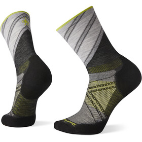 Smartwool PhD Run Light Elite Pattern Crew Socks, charcoal